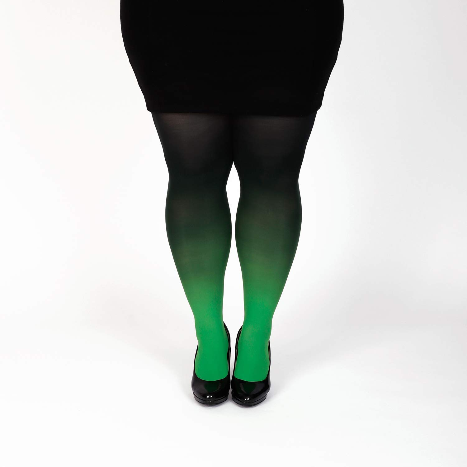 be810047838aa Amazon.com: Green plus size semi opaque tights gradient pantyhose Christmas  gift for her: Handmade