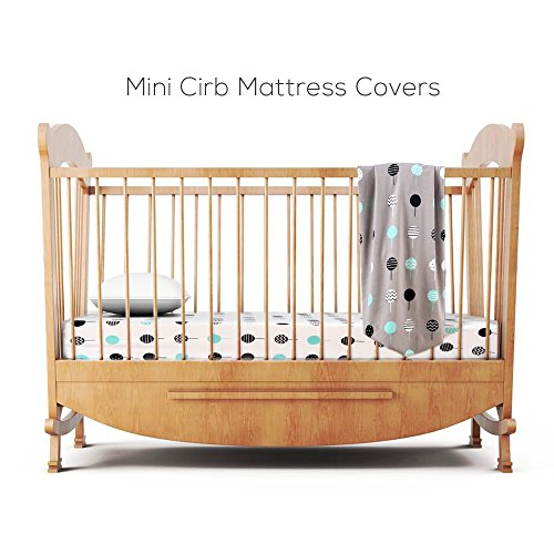 Stretchy Fitted n Play Playard Sheet 2 Crib Sheets,Convertible Playard Mattress Cover,Ultra Material,Lollipop Design