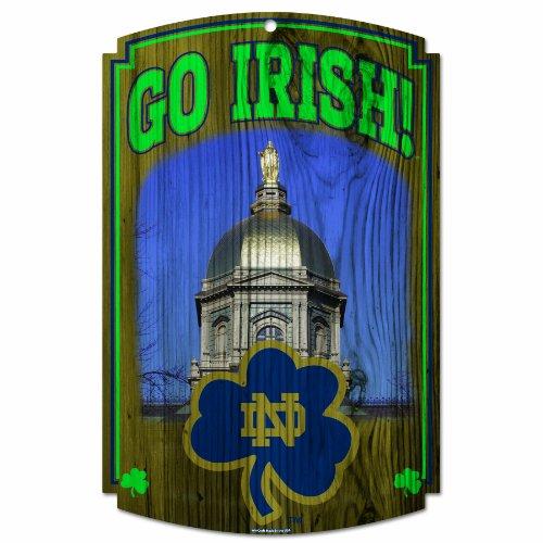 WinCraft NCAA Notre Dame Fighting Irish Wood Sign (Irish Cut Fighting Ncaa Precision)