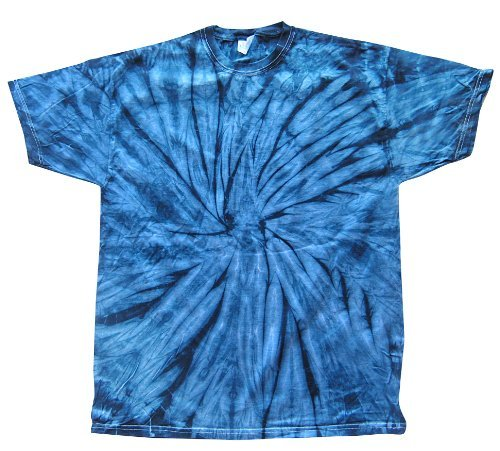 Tapestry Tee (Tie Dyes Men's Tie Dyed Performance T-Shirt H1000 Spider-Navy-Medium)