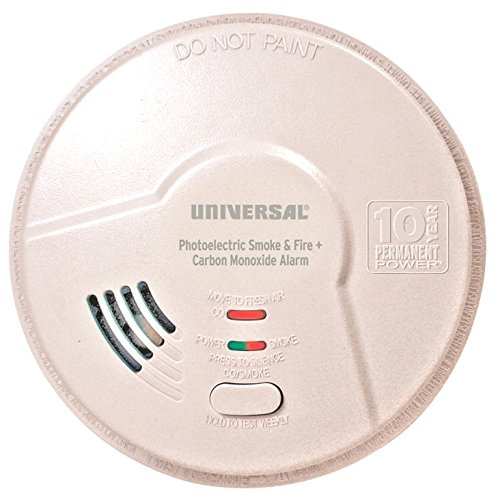 Universal Security Instruments USI Hallway 10 Year Tamper Proof Permanent Power Sealed Battery 2-in-1 Photoelectric Smoke & Carbon Monoxide Smart Alarm (MPC322SB)