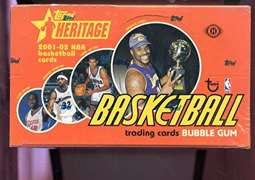 2001-02 Topps Heritage Set NBA Basketball Card 01-02 Wax Pack Box 2002 ()