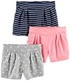 #4: Simple Joys by Carter's Girls' Toddler 3-Pack Knit Shorts