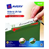 Avery Slide and Lift Tab Hanging Folder, Green, Letter Size, Pack of 24 (73506)