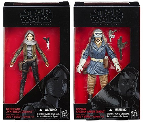 Star Wars The Black Series Rogue One Sergeant Jyn Erso & Captain Cassian Andor 6 inch - Set of 2 Action Figures