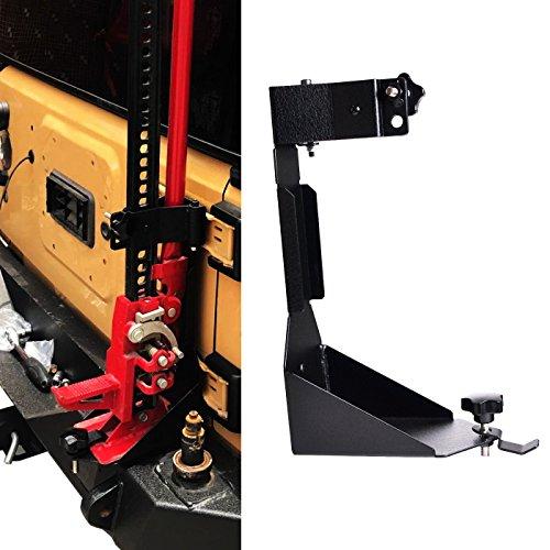 OMOTOR Off-Road Tailgate Hi-Lift Jack Mount Bracket fit for Jeep Wrangler JK 2007 2008 2009 2010 2011 2012 2013 2014 2015 2016 2017 2018 (JK Tailgate Hi-Lift Jack Mount Bracket)