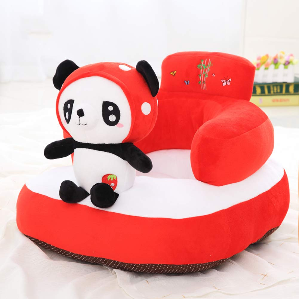 Y&Y Child's Sofa,Plush Baby Couch Chair Panda Penguin Mini Toy for Gaming Room-red 50cm(20inch)