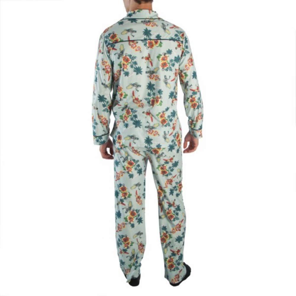 DC Comics Apparel Batman 66 Surfs Up All Over Print Mens Pajama Set