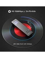 COOAU 1536KBPS 8GB Grabadora de Voz Digital Portátil con Clip Trasero