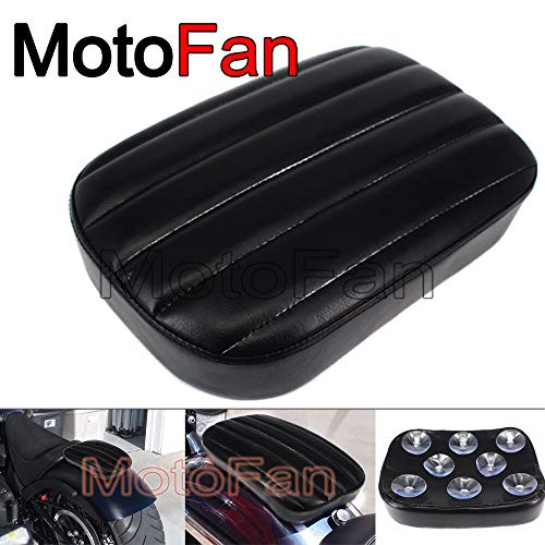 Hafwen Store - Best Motorcycle Rear Seat Pad Cushion Custom Passenger Pillion Pads 8 Suction Cup for Yamaha Honda Harley Touring Dyna Triumph