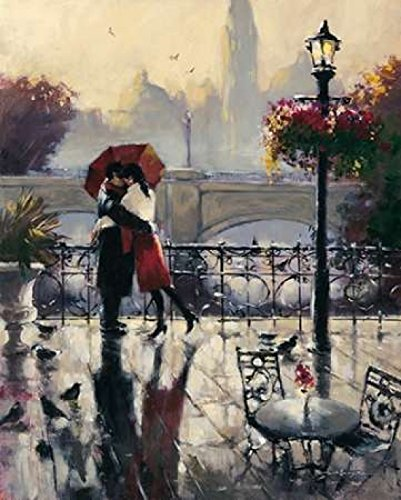 Romantic Embrace Poster Print by Brent Heighton