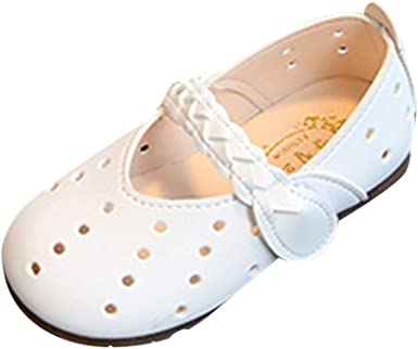 Baby Fashion Child Girls Solid Anti-Slip Casual Single Leather Pricness Shoes