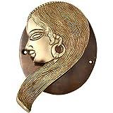 Aakrati VZH365 Lady Face Door Knocker, Brass Yellow