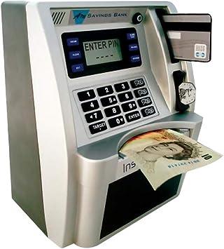 Goolsky Dibujos Animados ATM Caja de Ahorros Personal ATM Moneda en Efectivo Cerdito Máquina de Banco: Amazon.es: Juguetes y juegos