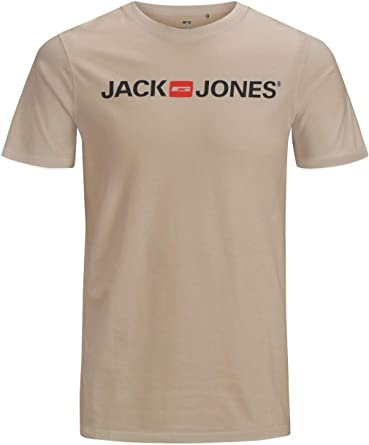 Jack /& Jones Core T-Shirt Mens Chest Logo Print Crew Neck S//S Slim Fit Tee