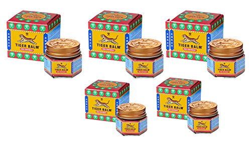 Tiger Balm Red Ointment 21ml (19.2g) - Pack of 5 - Red Ointment