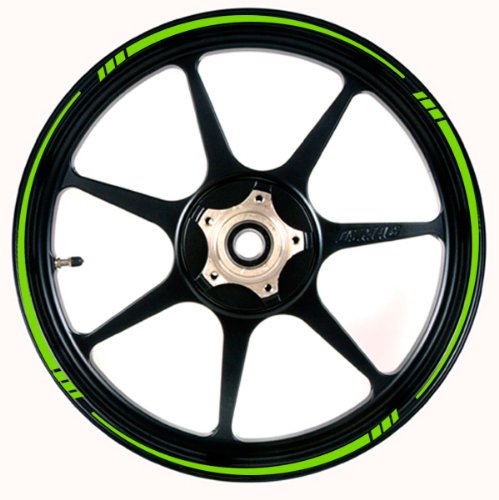 BRIGHT GREEN Wheel Rim Tape TAPERED Stripe fit ALL Motorcycles, Cars, Trucks (Green Wheel Rim Tape compare prices)