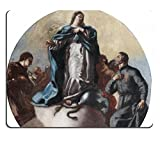 MSD Mouse Pad Leonardo Antonio Olivieri Attr Immaculata With St Anthony And St Camillo Of Lellis Customized Desktop Laptop Gaming Mousepads