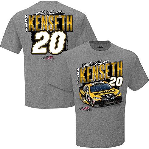 Nascar Mens Chassis 2 Spot T Shirt Matt Kenseth  20 Dewalt Gray Large