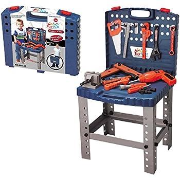 toy tool set workbench kids workshop toolbench toys games. Black Bedroom Furniture Sets. Home Design Ideas