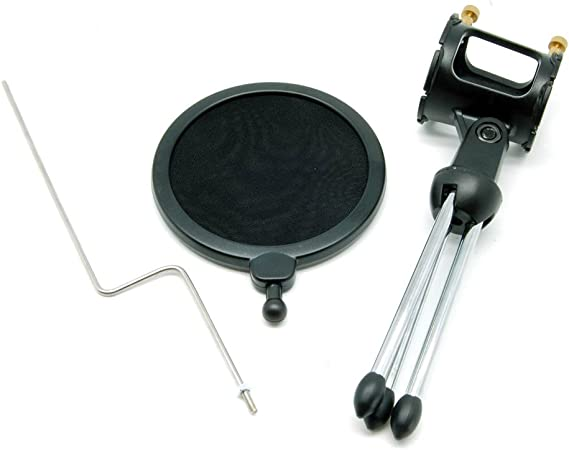20 Pack Portable Desktop Microphone Stand MDS-5 with Pop-Filter GOWOS