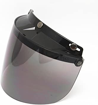 3 Snap Flip Up Visor Face Shield Lens for Open Face Helmet Color#2