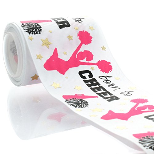 3'' Born to Cheer Grosgrain Ribbon 100yd by HairBow Center LLC (Image #2)