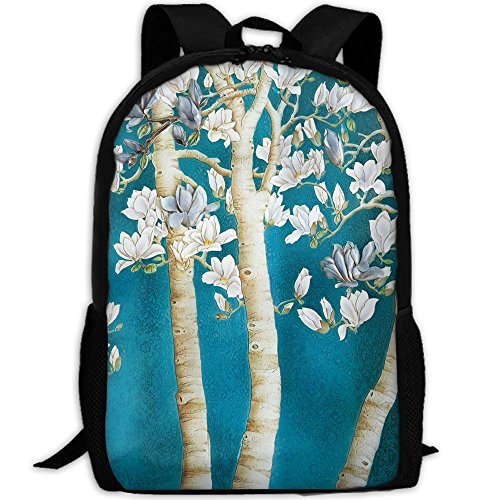 SZYYMM Custome Kapok Oil Pattern Oxford Cloth Fashion Backpack,Travel/Outdoor Sports/Camping/School, Adjustable Shoulder Strap Storage Backpack For Women And Men