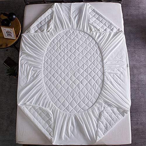ASDFF Couvre-Matelas Blanc Pur Fibre de Bambou Serviette en Tissu Coton Couvre-lit imperméable Feuille Couvre-Matelas Unique Feuille de ménage 100x190 + 35cm Blanc