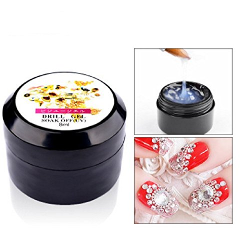 - Zhiwen 10ML Nail Art Glue Foil Rhinestone Sticker Adhesive Jewelry Diamond Super Sticky Nail Jewelry
