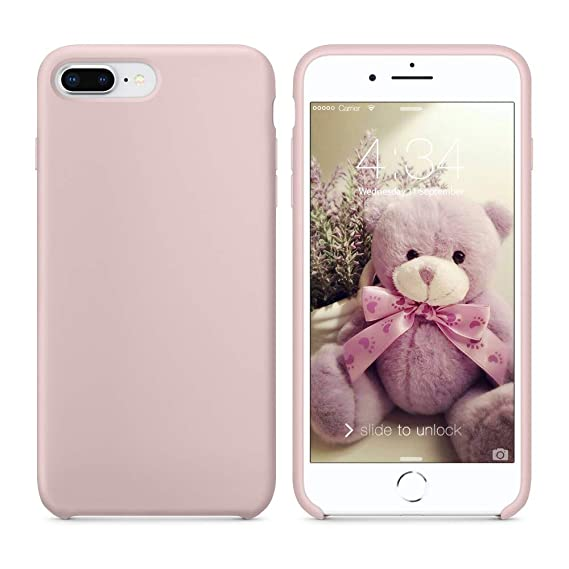 free shipping 2b517 6502a SURPHY Silicone iPhone 8 Plus Case/iPhone 7 Plus Case, Soft Liquid Silicone  Rubber Slim Phone Case Cover with Microfiber Lining for Apple iPhone 7 ...