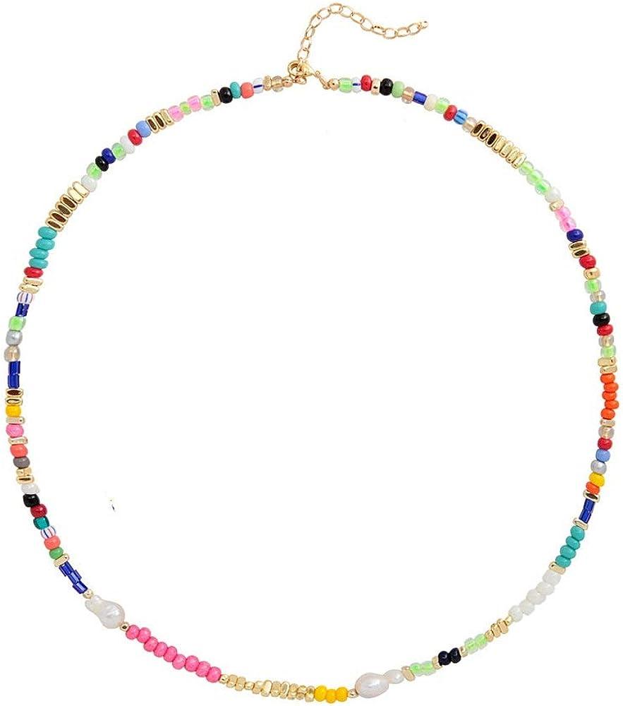 PJGS-UK Partido de Moda Joyas con Nombre Real Granos de Cristal Collar de Perlas de Gargantillas Conjunto Personalizado 2020 Nuevo Diseño Collares for Ella Delicado Collar