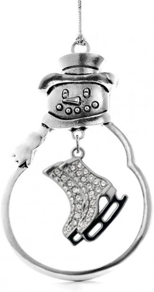 MadSportsStuff Christmas Ornament with Crystal Ice Skates Charm