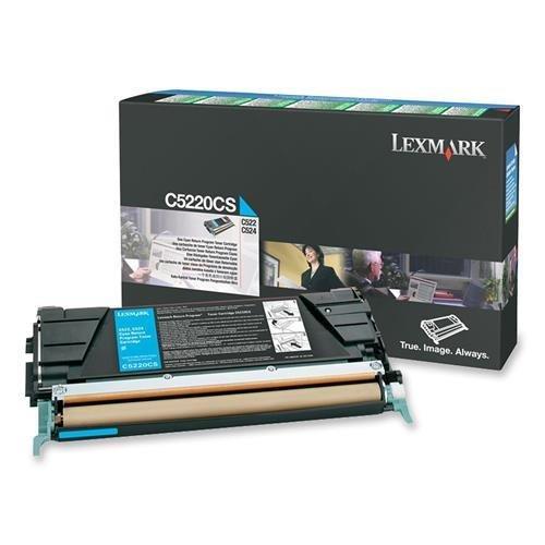 Original Lexmark C5220CS 3000 Yield Cyan Toner Cartridge - Retail - Lexmark C5220cs Cyan Toner