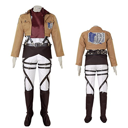 CG Costume Women's Attack on Titan Mikasa Ackerman Survey Corps Cosplay Costume (Mikasa Ackerman Costume)