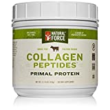 Grass Fed Collagen Peptides, Best Collagen for Hair, Nails and Skin* – Hydrolyzed Collagen Protein from Pasture Raised Cows – Type I and III Collagen Powder Supplement by Natural Force, 11.75 Ounce