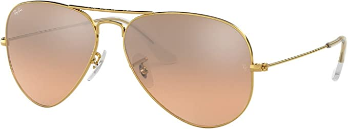 ray ban aviator gold frame brown lens