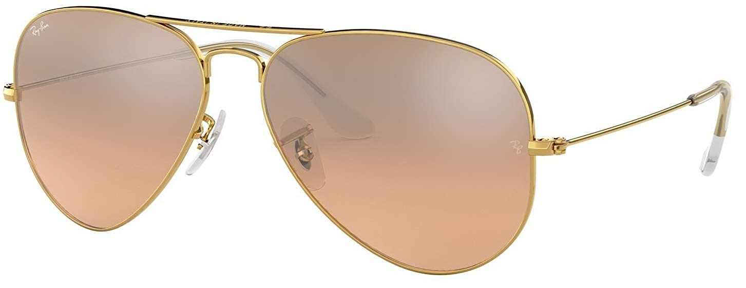 086b6ce0c Amazon.com: Ray-Ban RB3025 001/3E Gold Frame / Brown-Pink Silver Flash Lens  58mm: Clothing