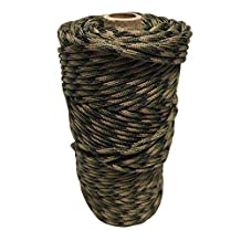 SGT KNOTS MilSpec Mil-C-5040H Type III (7 Inner Strands - 600 LB) or Type IV (11 Inner Strands - 800 LB) Paracord on 200ft, 100ft - Several Colors (T4 Military Camo 200ft)