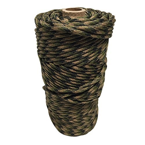 - SGT KNOTS Paracord Type IV Milspec Mil-C-5040H 13/64 inch (5mm) - 11 Strand - 100% Nylon Core and Shell 800 lb Tensile Strength Utility Cord for Crafting, Tie-Downs, Camping