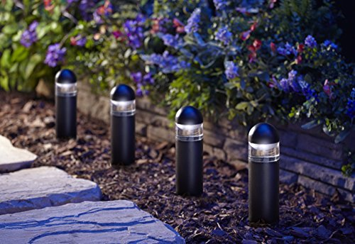New Moonrays Metal Bollard Led Landscape Lighting Low Voltage 1 Watt Black 5662252302278 Ebay