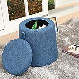 Cloth Small Stool Sofa Chair Fashion Simple Osman Low Stool Shoes Bench Ottoman Storage Stool Blue