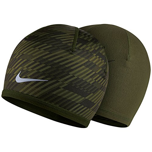 Nike Men's Run Hazard Beanie, Cargo Khaki/Deep Pewter, One Size