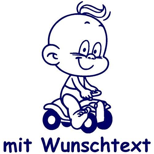 Windel Winni Babyaufkleber mit Name/Wunschtext - Motiv WW3 (16 cm) MY-BABY-SHOP