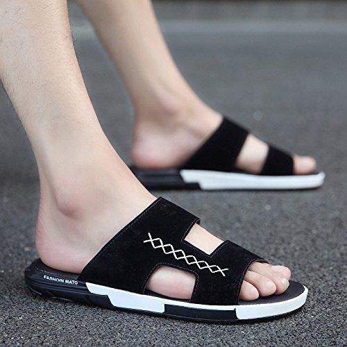 sandalias el blando masculino fondo Negra en verano personalidad frío y de moda en de marea nbsp;Zapatillas de campo Playa 40 antideslizante y el Fankou de A la de marea verano XZ0Wz