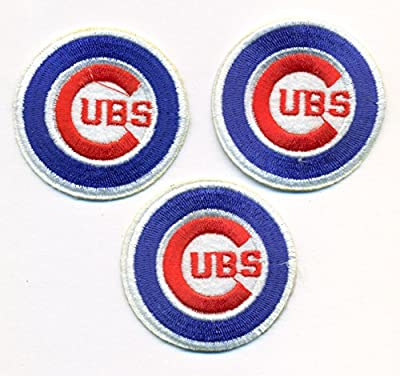 Lot of 3 Chicago Cubs Logo Baseball MLB Embroidered Iron On Patches Hat Jersey