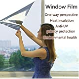 TOTAL HOME 15% Reflective One Way Mirror Privacy Window Film Glass Sticker Privacy(50x50CM)