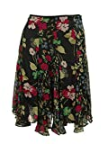Lauren Ralph Lauren Womens Petites Chiffon Pleated A-Line Skirt Black 4P