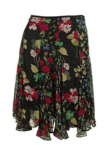 Lauren Ralph Lauren Womens Petites Chiffon Pleated A-Line Skirt Black 4P by RALPH LAUREN