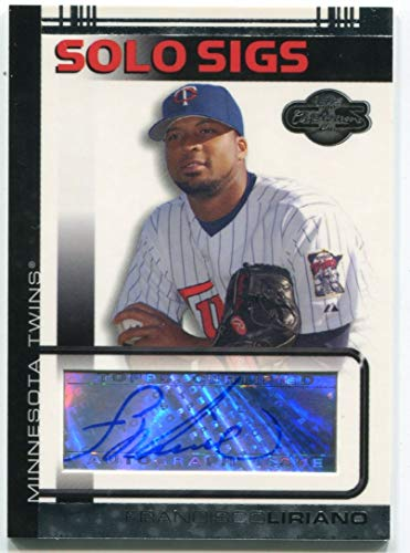 (Francisco Liriano Autographed 2007 Topps Co-Signers Card)